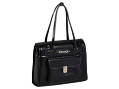 Wenonah Leather Ladies Briefcase - Black
