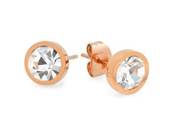 18kt Rose Gold Plated 8mm Stud Earrings