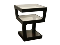 Clara Black Tall 3-Tiered Table