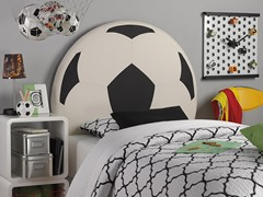Upholstered Soccer Ball Headboard- Twin