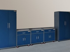 (2) Tall and (3) Base Steel Cabinet Set