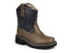 Stitched Boot - Navy/Brown (Tod 9-Kid 3)