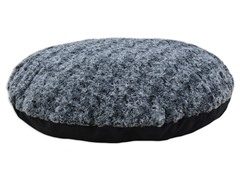 "Feathers Black 36"" Round Fiber Pet Bed"