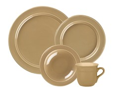4 Piece Dinnerware Set - Sand
