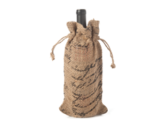 French Burlap Wine Gift Bag