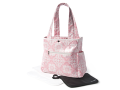 Versailles Pink Tulip Tote with Clutch