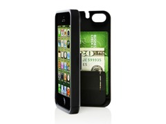 iPhone 5 Case w/Hinged Back - Black