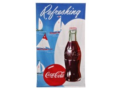 Coke Sailboat Beach Towel