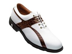 Icon Caiman Saddle Golf Shoe - Wht/Brown