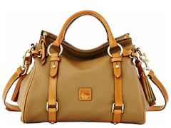 Dillen II Small Satchel, Taupe/ Tan Trim