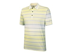ClimaCool Stripe Polo, Chrome/Seafoam