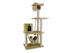 62-Inch Classic Cat Tree - Beige