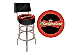 Budweiser Bowtie Padded Stool w/ Back