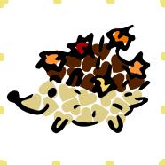 Hedgehog Hogs Leaves