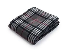 Cashmere-Like Blanket Throw - Grey Plaid