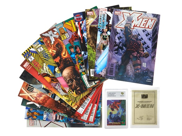 X-Men 15 Comics + 1 Movie Memorabilia