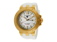 Challenger Watch, White / Gold / White