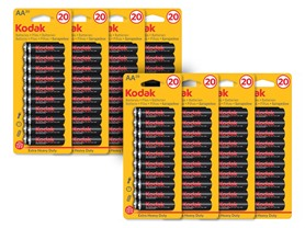 Kodak Extra Heavy Duty AA Batteries - 160 Pack