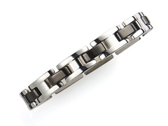 BlackJack Stainless Steel H Link Bracelet