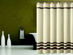 Bleecker Fabric Shower Curtain-2 Colors