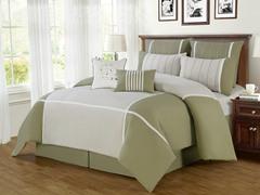 8-Pc Royalton Comforter Set- Sage (Multiple Sizes)