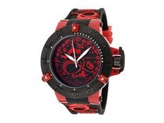 Noma III - Black/Red Dial / Black Silicone