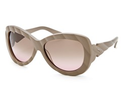 Women's Sunglasses, Matte Dark Khaki/Green-Pink