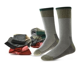 Men's Assorted Boot Socks 6 Pair Pack - 2 Styles