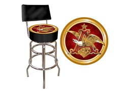 Budweiser A & Eagle Padded Stool w/ Back