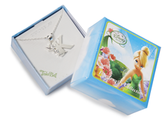 "Tinkerbell Initial Necklace - Letter ""K"""
