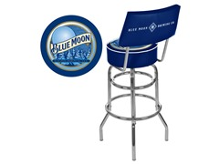 Blue Moon Padded Bar Stool w/ Back