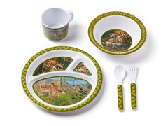 5-Piece Melamine Set - Deer