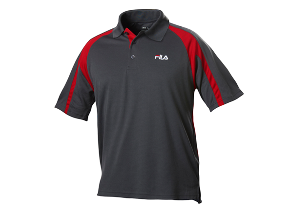 Polo Shirt Dark Grey Red
