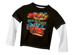Cars Long Sleeve Tee - Black (4-7)