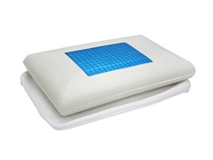 Economy Gel Top Micro Fiber Pillow - Blue