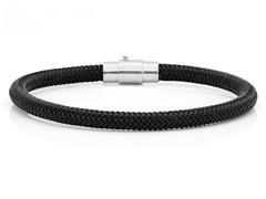 Black Cable Wire Bracelet