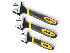 Stanley 3-Pc Adjustable Wrench Set