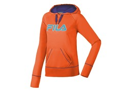 Fila Women's Contrast Hoody, Orange (XS)
