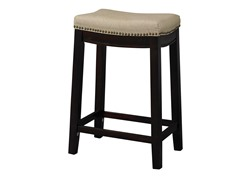 Linen Nailhead Saddle Stool (2 Sizes)