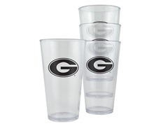 Georgia Plastic Pint Glasses 4-Pk
