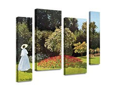 Woman in Park with Poppies (2 Sizes)