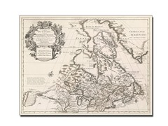 Map of Canada or New France' Canvas Art- 2 Sizes