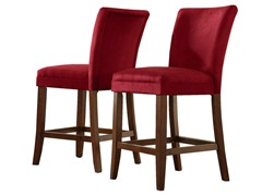 "24"" Cranberry Parson Stool - Set of 2"