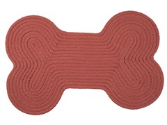 Terracotta Dog Bone Solid Rug - 3 Sizes