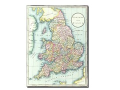 Map of England & Wales 1852' Canvas Art- 2 Sizes