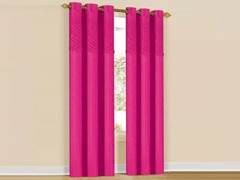 Set of 2: Annecy Grommet Pair Panels Fuchsia