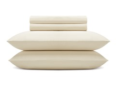 600TC Sheet Set - Ivory - 2 Sizes