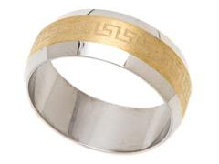 2-Tone Stainless Steel Greek Ring