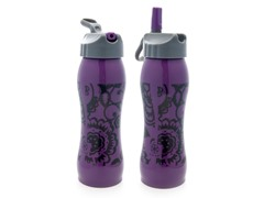 Purple Floral Stainless Steel Water Bottle 2-Pack