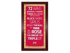 "Chicago Bulls 16"" x 32"" Sign"